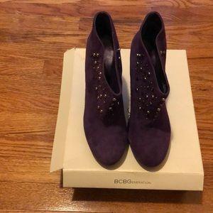 Stylish BCBG purple boots w/ studs